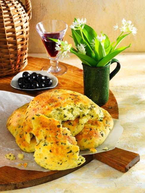 Kartoffel-Bärlauch-Brot