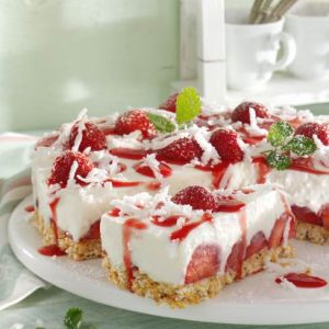 Erdbeer-Kokostorte
